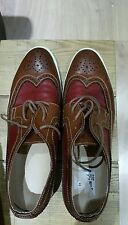 gents two coloured soft leather white soled brogues from USA 9 UK 8.5