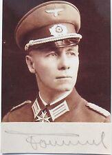 Erwin Rommel ''Desert Fox'' World War II German Commander Autograph Authentic...