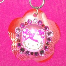 Tarina Tarantino Hello Kitty Pink Floral Pendant Necklace w/Swarovski Crystals