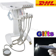 Mobile Dental Delivery Cart Unit Lab 4Hole Triple Syringe Handpice【2-5Day to USA
