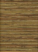 Bronze and Brown Faux Printed Bamboo Shoot Grasscloth Wallpaper 14562624 FD62624