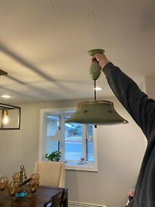 vintage retractable ceiling light
