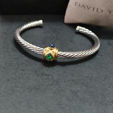 David Yurman Renaissance Bracelet W/ Green Tourmaline Rhodalite Garnet