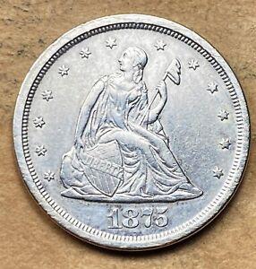 1875-S Twenty Cent Piece AU/UNC
