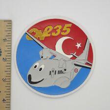 TURKISH AIR FORCE CN-235 PATCH (Vinyl) Vintage Original TURKEY