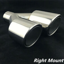 "Chrome Dual Exhaust Tip 2.5"" Inlet Car Stainless Steel Tail Muffler Pipe -Right"