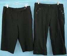 Stretch Capri Pants Cotton Classic Cropped Black Bundle 14 Larry Levine