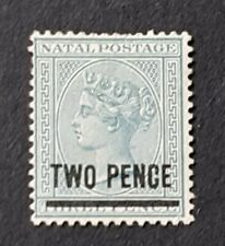 Natal QV 2d over 3d SG105 Mint no Gum