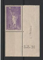 FRANCOBOLLI - 1936 FRANCIA C.75+50 PRO RIFUGIATI MNH E/1588