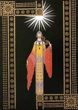 "ORIGINALE VINTAGE Erte Art Deco Print ""La Princesse lointaine"" FASHION BOOK Piastra"