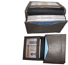 2 New Leather Business Card Case Credit Card Atm Holder Fifty Card Case Id Case