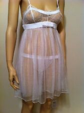 Retail $457.00 La Perla Baby Doll Night Gown Silk Tulle Size S Made in Italy NWT