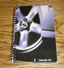 Original 2000 Lincoln LS Deluxe Spiral Bound HC Book Sales Brochure 00