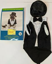 Casual Canine Tux with Tails & Top Hat Pet Costume Small Terrier/Maltese/Pug