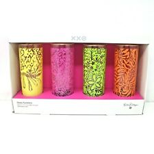 Lilly Pulitizer Target XXO Collection 4 Glass Tumblers Set Drink Beverage Glass