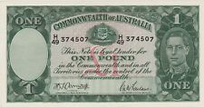 More details for p26b australia one pound banknote in mint condition issued in 1942