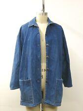 Vintage Catalina Blue DENIM Button Down Barn Coat Jeans Women's SZ 14 USA Made