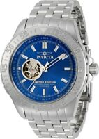 Invicta Men's 34260 Pro Diver 3 Hand Blue Dial Watch