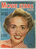 movie stars magazine:  janet powell, marilyn monroe, piper laurie, oct, 1952