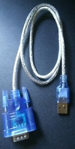 3ft DB9 RS232 Serial to USB 2.0 Converter 9 Pin Adapter Cable Win/Mac/Linux