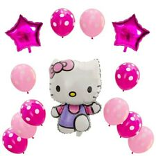 Hello Kitty Foil Balloons Kit 13pcs Party Birthday Kids Baloon Girls Latex Pink