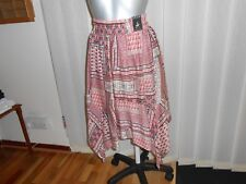 ladies skirt size 8 multi coloured handkerchief style