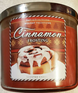1 Bath & Body Works CINNAMON FROSTING 3-Wick Scented 14.5 oz Large Candle 2014