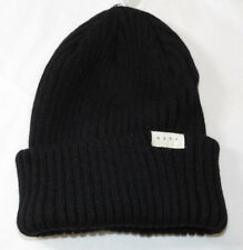 NEFF cuff Beanie knit hat skull cap lid NEW One Size Black NF0019 NWT