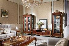 Wall Unit Display Case Console Glass Living Room Baroque Rococo E70