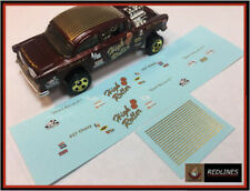 1/64 '55 Chevy High Roller Gasser' CUSTOM Gold Metallic Decal SCR-0135M