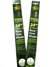 Replacement Bow Saw Blade 2pc 24 Inch Hard Carbon Steel Raker Tooth B9824WETBKEW