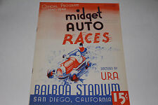 Midget Auto Races Program, San Diego Balboa Stadium, October 15 1947 Original #2