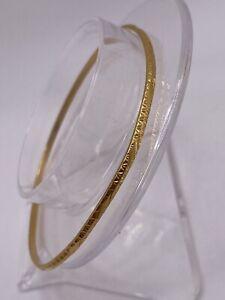 750 18k Yellow Gold Bangle Bracelet 8.7 GRAMS