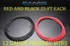 12 GAUGE WIRE 50 FT ENNIS ELECTRONICS 25 RED 25 BLACK PRIMARY AWG COPPER CLAD
