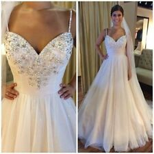 New White / Ivory Wedding Dress Bridal Gown Custom Size 6 8 10 12 14 16+++