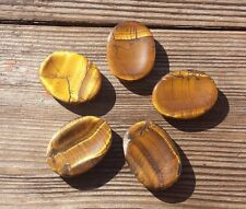 NATURAL TIGER EYE GEMSTONE WORRY STONE (ONE)