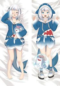 Virtual YouTuber Gawr Gura Hugging Body Pillow Case Cover Dakimakura 150cm
