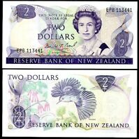 NEW ZEALAND 2 DOLLARS 1981 - 1992 P 170 C UNC