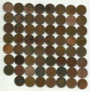 63 x 2 Reichspfennig 1937 - 1940 - Münzschrott!