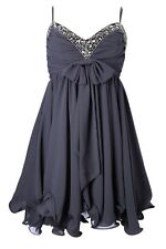 BNWT French Connection Black Crystal Embellished Darcy Strappy Mini Dress Uk 12