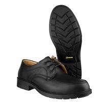 Amblers FS65 Composite Midsole Slip-Resistant Executive Safety Black Shoe