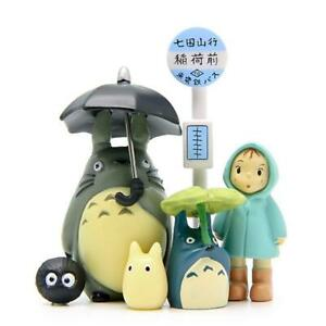 6PCS/Kit Doll Figure Cute Japan Miniature Studio Ghibli My Neighbor Totoro Ensky