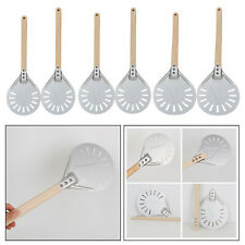 Perforated Aluminum Pizza Peel Metal with Wood Handle for Tool Oven Accs