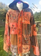 "SUPER UNISEX COAT SIZE M  L MENS 42"" 44"" CHEST LADIES 14 HIPPIE  JACKET TOP"
