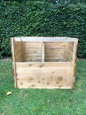 More details for large wooden double composter  with removable slats