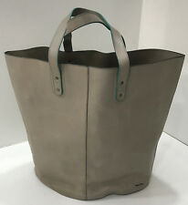 Paul Smith TAUPE LEATHER WEEKEND BAG / TOTE / SHOPPER Bag Made in ITALY