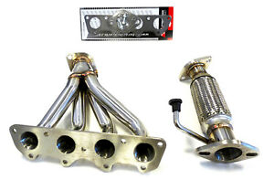 OBX Stainless Header For Hyundai & KIA 2011-18 Veloster Accent Soul Rio 1.6L N/A