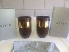Aerin Leoben Ceramic and Gold Vase