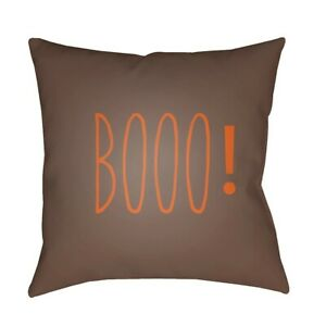 Boo by Surya Poly Fill Pillow, Brown, 18' - BOO103-1818
