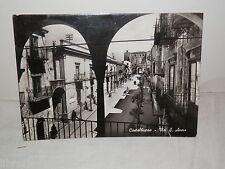 Vecchia cartolina foto d epoca di CASTELBUONO Via S Anna 1972 veduta strada da